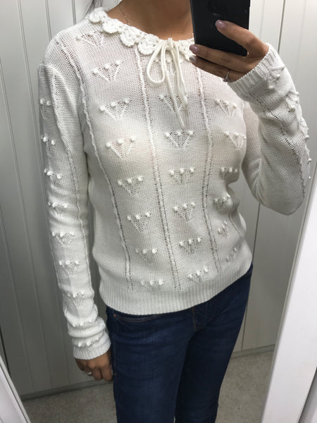 Cream Spoltore Knit Jumper by SILVIAN HEACH - SWALK Fashion