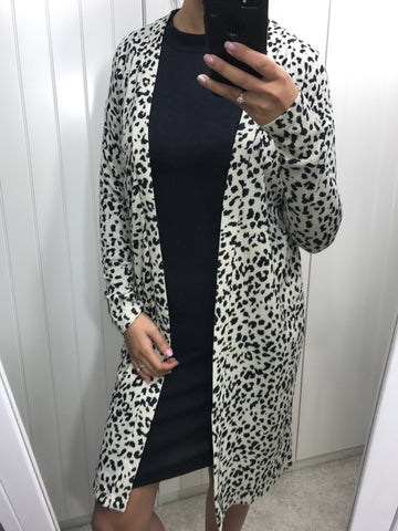 Animal Print Soft Long Lounge Cardigan by ICHI - SWALK Fashion