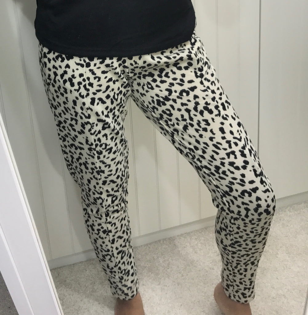 Animal Print Soft Lounge Pants by ICHI - SWALK Fashion