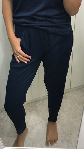 Blue Soft Lounge Pants by ICHI - SWALK Fashion