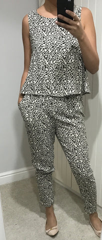 Leopard Print Jumpsuit by ICHI - SWALK Fashion