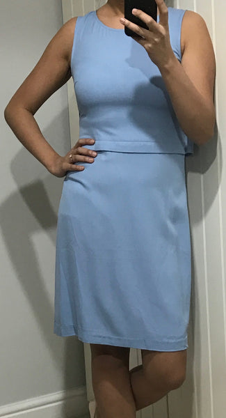 Light Blue Rola Dress with Back Detail by ICHI - SWALK Fashion