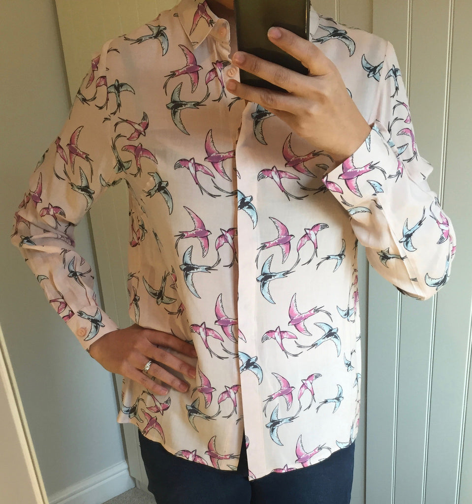 Blair Bird Print Pink Shirt by SUGARHILL BOUTIQUE - SWALK Fashion