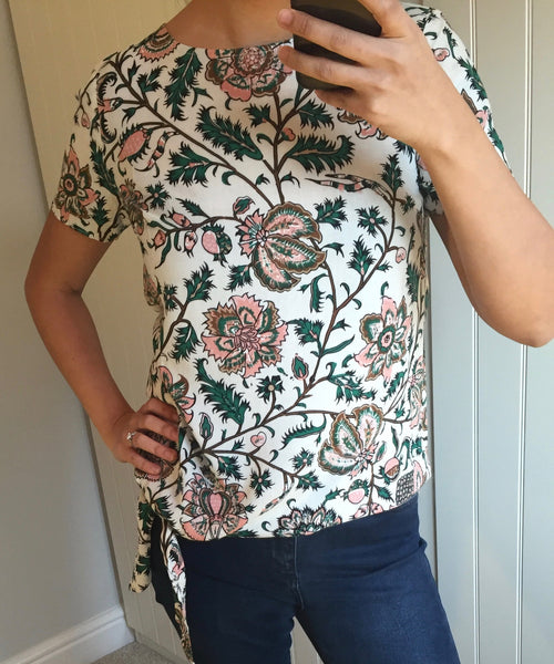 Zia Tropical Print Tie Top by SUGARHILL BOUTIQUE
