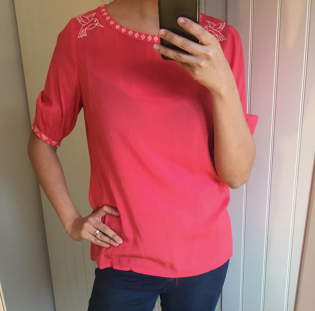 Hummingbird Boho Coral Top by SUGARHILL BOUTIQUE - SWALK Fashion