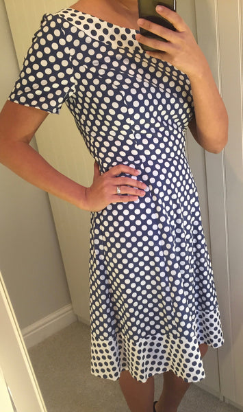 Lyda Blue & White Polka Dot Dress by SUGARHILL BOUTIQUE - SWALK Fashion