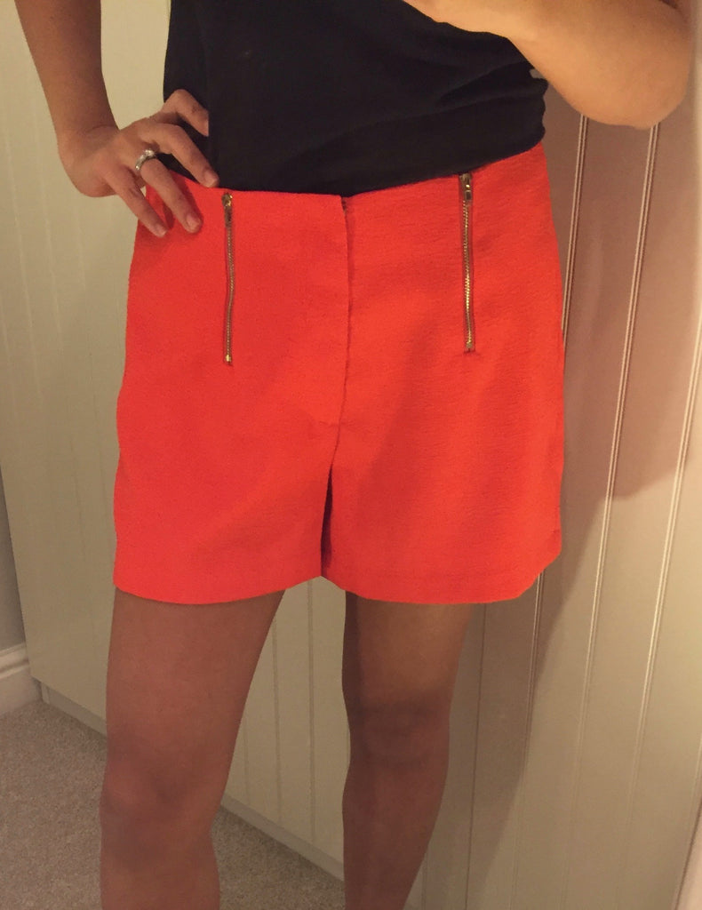 Coral Shorts with Zip Detail by LAVAND - SWALK Fashion