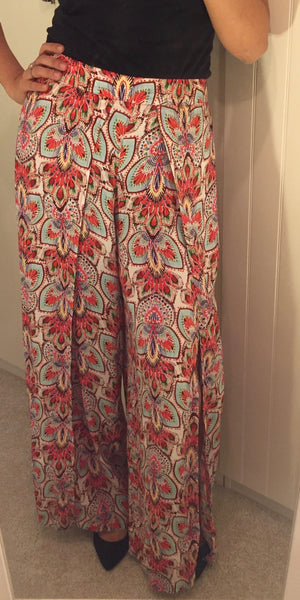 Patterned Trousers With Split by LAVAND - SWALK Fashion