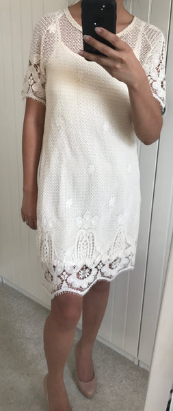 Knitted Dress With Crochet Detailing by BELLFIELD - SWALK Fashion