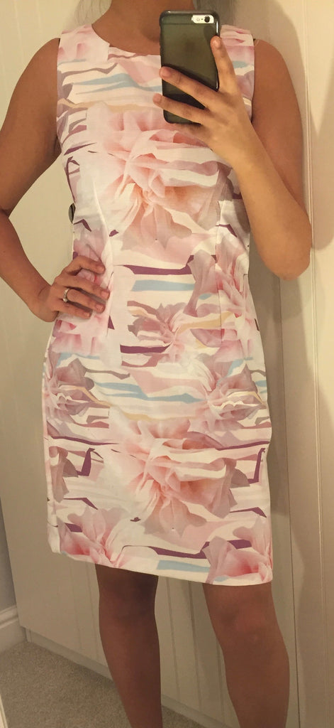 Patterned Pink Shift Dress by LAVAND - SWALK Fashion