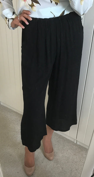 Cropped Wide Leg Culottes by ICHI - SWALK Fashion