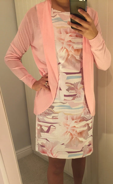 Pink Cardigan by LAVAND - SWALK Fashion
