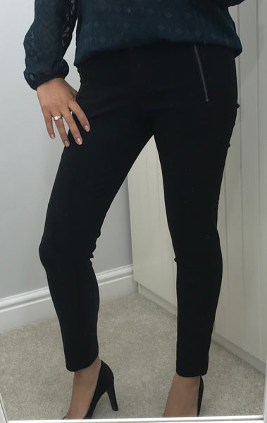 Cropped Black Skinny Trousers by SOYACONCEPT - SWALK Fashion