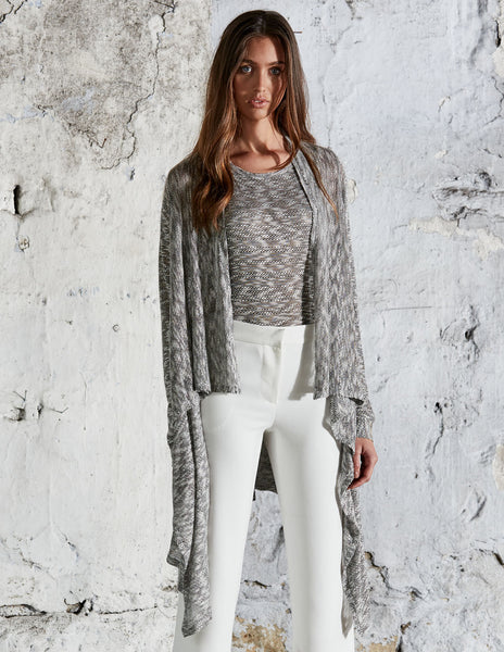 Lightweight Knitted Waterfall Cardigan with Pockets by BELLFIELD - SWALK Fashion