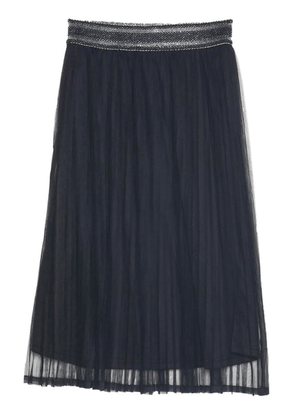 Double Layer Black Pleated Skirt by GRACE & MILA - SWALK Fashion