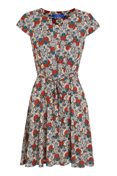 Multicoloured Floral Patterned Dress by ANONYME - SWALK Fashion