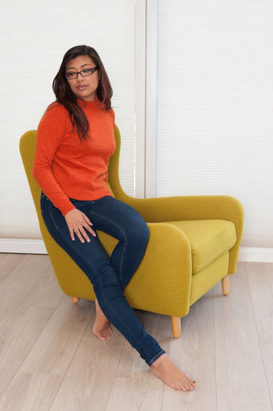 Pumpkin Sapodilla Knit Jumper by NUMPH - SWALK Fashion