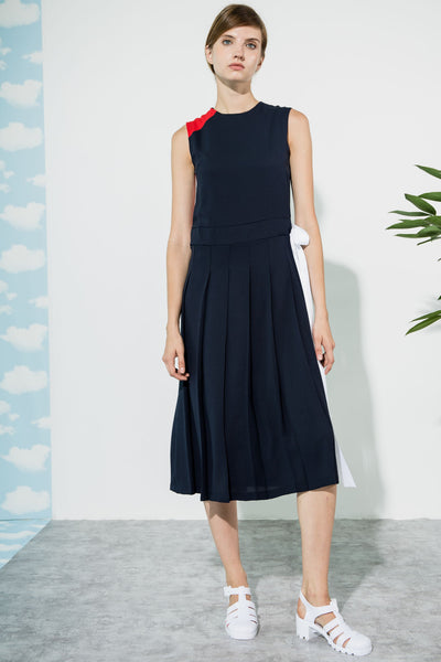 Navy, Red and White Venice Dress by CUBIC - SWALK Fashion