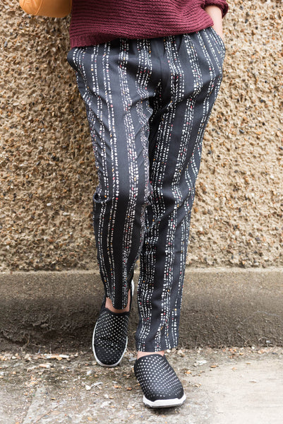 Vera Traces Patterned Tapered Trousers by ARMEDANGELS - SWALK Fashion
