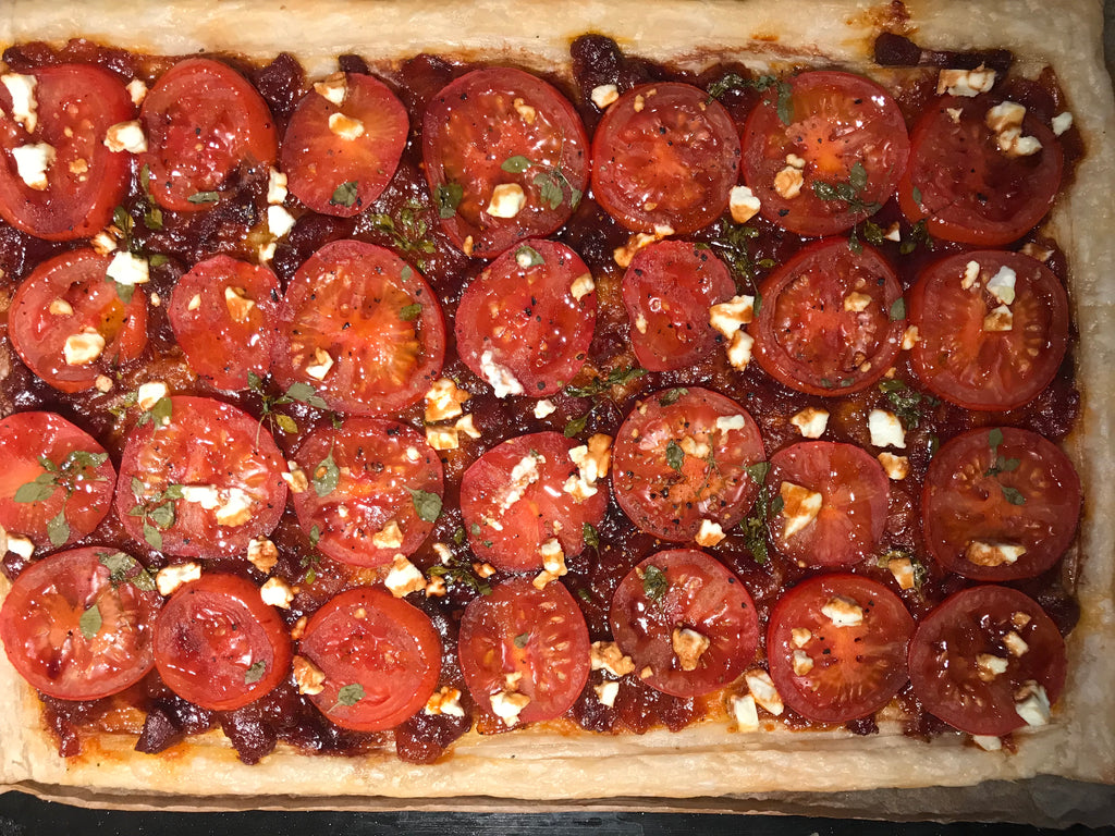 THE SIMPLEST TOMATO AND CHORIZO TART - SERVES 6