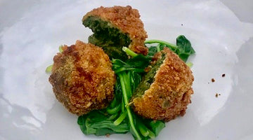 SPINACH AND GOATS CHEESE CROQUETAS