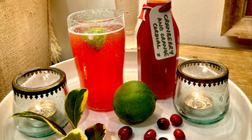 CHRISTMASSY CRANBERRY AND ORANGE CORDIAL