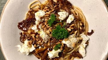 LINGUINE WITH BALSAMIC MUSHROOMS - SERVES 2