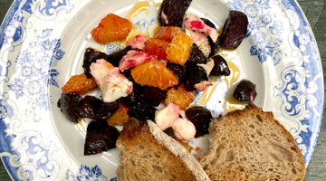 OVEN ROASTED BEETROOT, BLOOD ORANGE AND MOZARELLA SALAD - SERVES 2