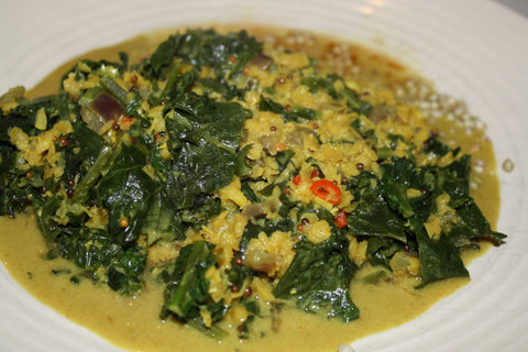 Kale and Red Onion Dahl – for 1