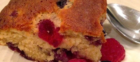 Raspberry White Chocolate and Blueberry Blondies