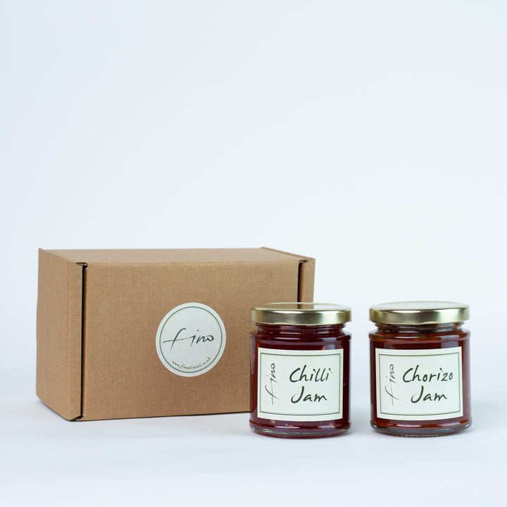 SAVOURY JAM GIFT BOX - ONE SPICY CHILLI JAM AND ONE CHORIZO JAM