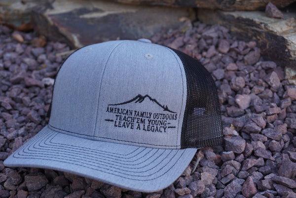 American Family Outdoors Logo Hat Black/Charcoal