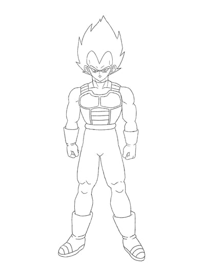 Let's Draw Vegeta Together