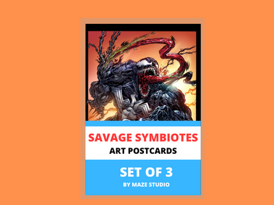 SAVAGE SYMBIOTES ART CARDS