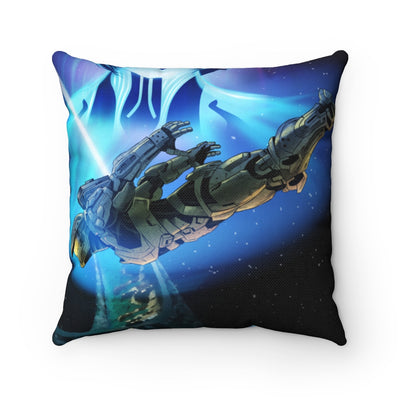 Cortana and Masterchief [Spun Polyester Square Pillow]