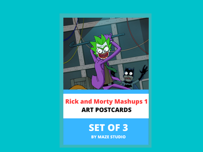 RICK AND MORTY MASHUPS 1 ART CARDS