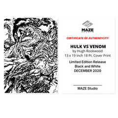 [Limited] Venom vs Hulk-B&W