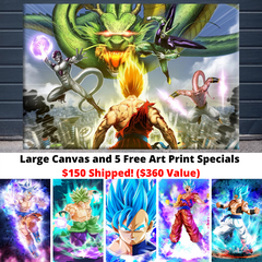 DBZ Promo: Large Canvas and 5 Free Art Prints Special!