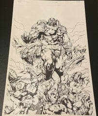 Apocalypse Original Pencils and Inks by JC Fabul