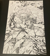 Sabretooth vs wolverine Original Pencils and Inks by William Allan Reyes
