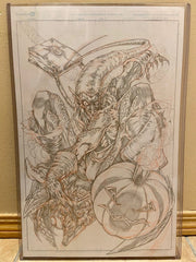 Savage Green Goblin Original Pencils by Hugh Rookwood