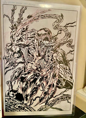 Savage Venom Original Pencils and Inks by Hugh Rookwood