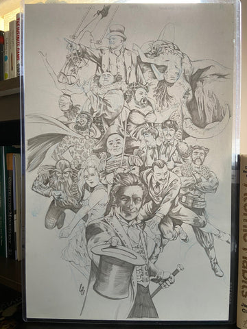 The Greatsest Showman Original Pencils  by Jonathan Lau