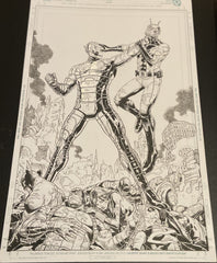 Ultron and the death of the Avengers Original Pencils and Inks by Tirso Llaneta