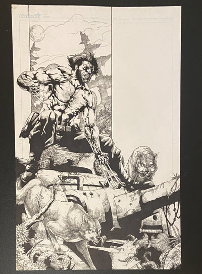 Weapon X  Original Pencils  by Nestor Celario