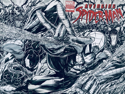 Avenging Spider-Man Wrap Around Sketchcover