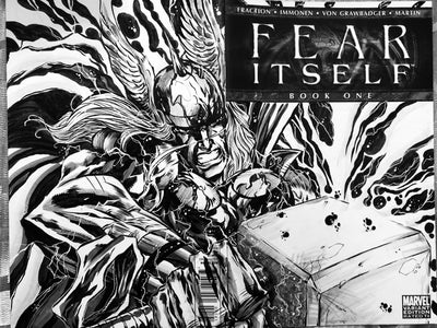 Thor (Fear Itself) Wrap Around Sketchcover