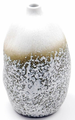 Brown Pebbled Large Bottleneck Vase