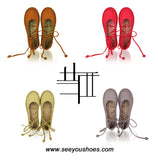 Lace Up Flats Traditional hand-sewn Shoes Handmade