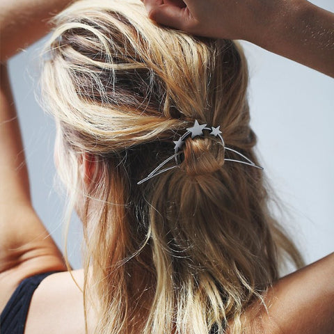 As Good As Silver Stars Hairpin (Hairpin) - Chizmiiz Boutique